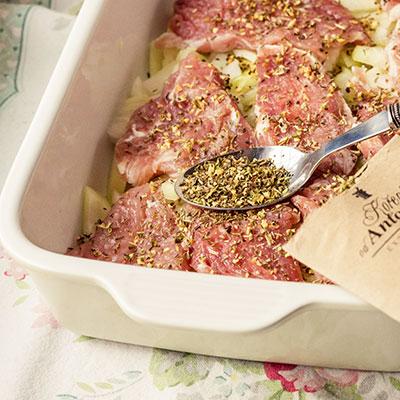 Zapečené maso s brambory - recept krok 3