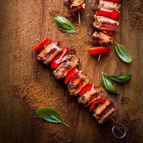 Grilované kuřecí maso s pršutem - recept krok 4