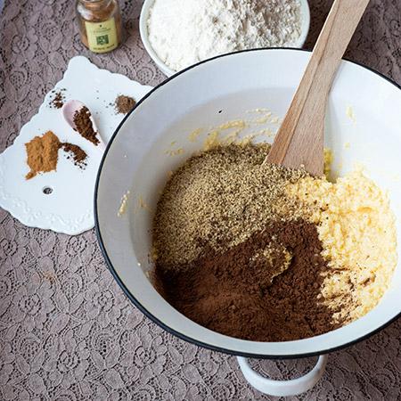 Kakaové pracny - recept krok 1