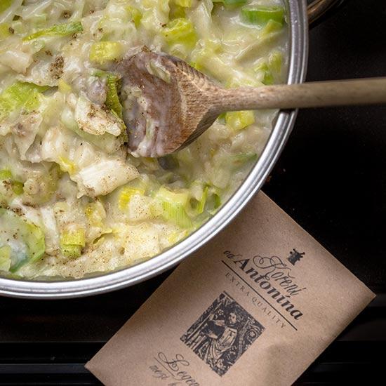 Chřestová polévka s rukolou - recept krok 3