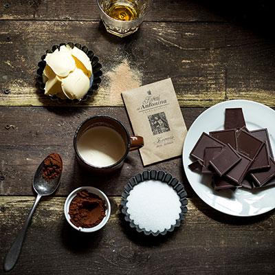 Čokoládové lanýže se skořicí - recept krok 1