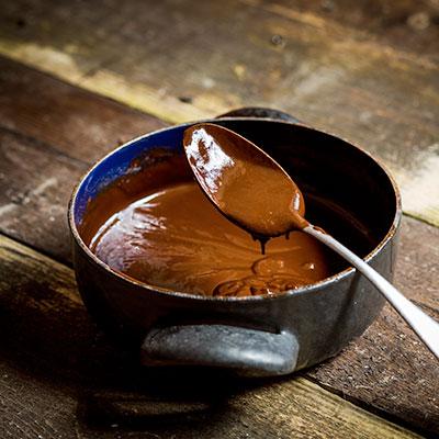 Čokoládové lanýže se skořicí - recept krok 3