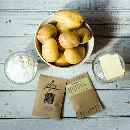 Gurmánské brambory - recept krok 1