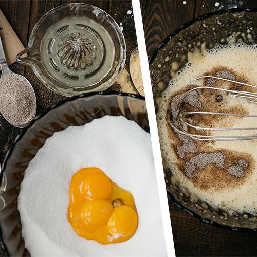 Třená mramorová bábovka - recept krok 1