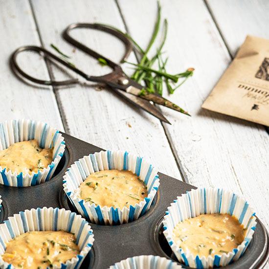 Mrkvový krém s pažitkovými muffiny - recept krok 3