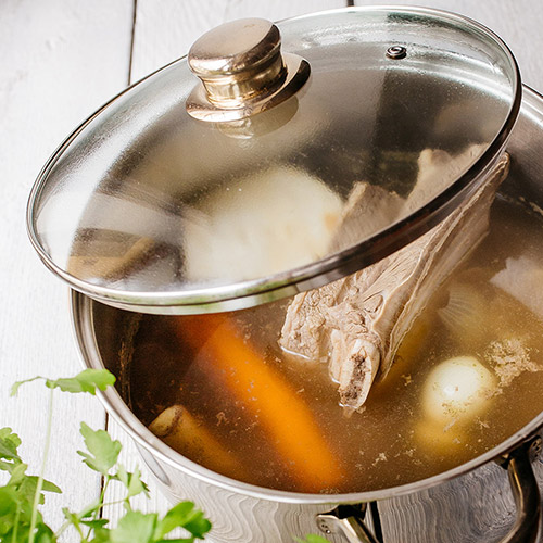 Polévka s játrovými knedlíčky - recept krok 5
