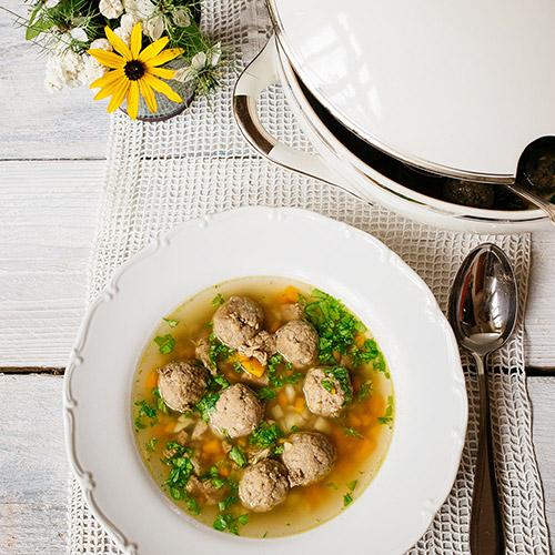 Polévka s játrovými knedlíčky - recept krok 8