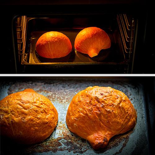 Dýňové pyré – recept krok 2