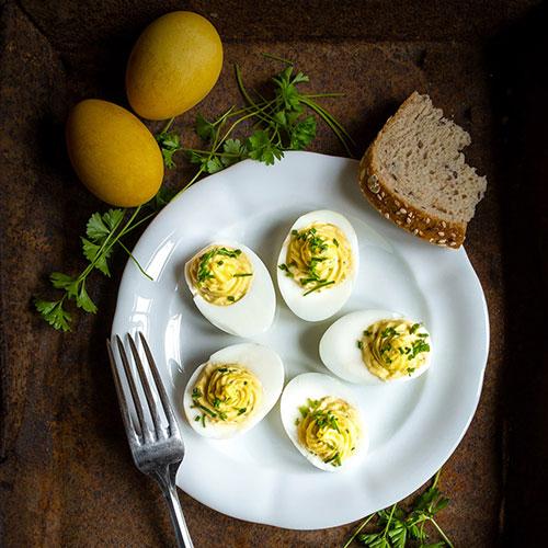 Vajíčková pomazánka - recept krok 5