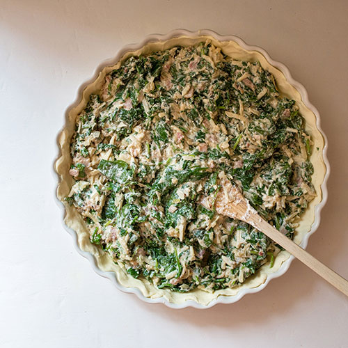 Špenátový pie s ricottou - recept krok 5