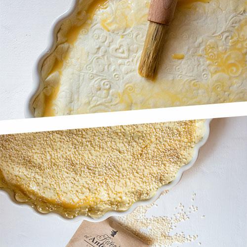 Špenátový pie s ricottou - recept krok 6