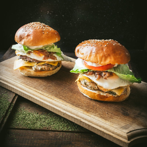 Kuřecí hamburger Porto Bello – recept krok 4