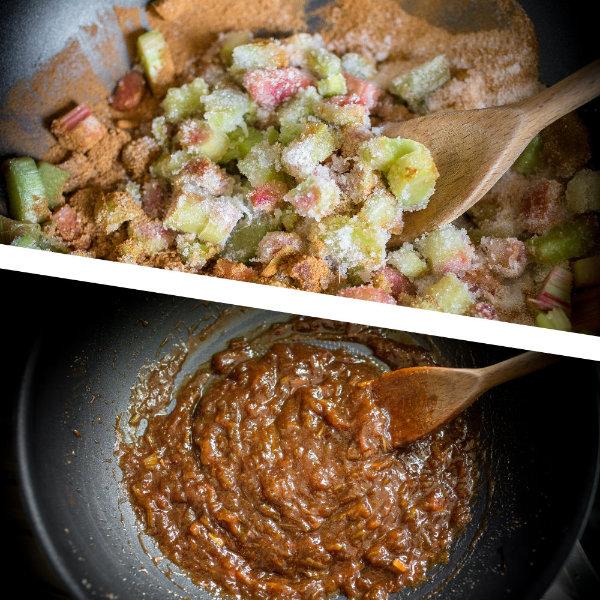 Moravské rebarborové koláčky s drobenkou – recept krok 4