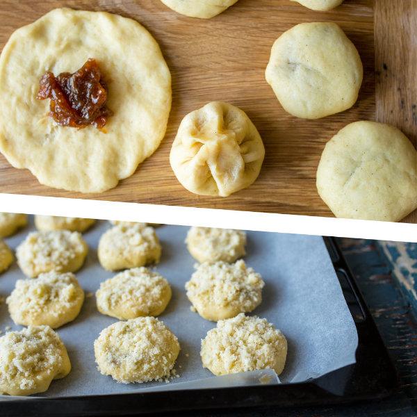 Moravské rebarborové koláčky s drobenkou – recept krok 9